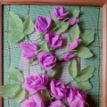 Розы из гофрированной бумаги к 8 Марта. Мастер-класс