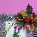 Поделка в технике квиллинга «Новогодняя елочка-красавица»