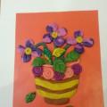 Мастер-класс по рельефной лепке из пластилина к 8 Марта для детей старшей группы «Для любимой мамочки с цветами вазочка»