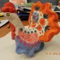 Мастер-класс по лепке из глины дымковской игрушки «Индюк» для детей старшей группы