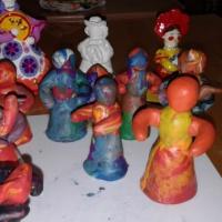Детский мастер-класс по лепке из пластилина дымковской нянюшки, птичницы