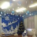 Оформление музыкального зала на Новый год