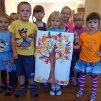 Нетрадиционная техника рисования «Осеннее дерево»