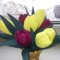 Мастер-класс по изготовлению подарка к 8 марта «Тюльпаны»