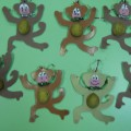 Игрушка на елку «Веселая обезьянка»