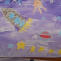 Космические фантазии. (Детское творчество. Фотоотчет)