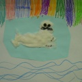 Детское творчество по теме «Животные Севера» (фотоотчет)
