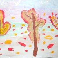 Конспект занятия по рисованию в старшей группе «Золотая осень»