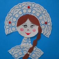 Мастер-класс «Портрет Снегурочки» из ажурных салфеток