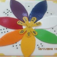 Мастер-класс из потолочной плитки «Цветик-семицветик»