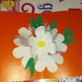 «В ожидании весны». Нежная открытка с букетом цветов. Мастер-класс. Объёмная аппликация