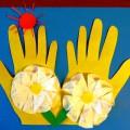 Мастер-класс с пошаговым фото «Цветы и солнце-все для мамы»