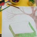 Коллективная работа второй младшей группы, в технике пластилинография «Зимующие птицы»