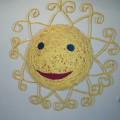 Поделка солнышко своими руками из ниток 85