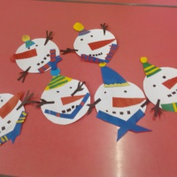 Новогодний мастер-класс «Снеговик из геометрических фигур» для детей старшей группы
