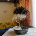 Мастер-класс. Дерево из бисера «Инь-Янь»