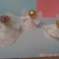 Ангелочки из ажурных салфеток. Мастер-класс