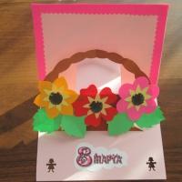 Мастер-класс объёмной открытки «Корзинка с цветами»