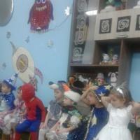 Фотоотчет о новогоднем празднике «Космические поиски Деда Мороза»