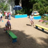 Конспект спортивного досуга «Веселые старты» с детьми дошкольного возраста 4–5 лет