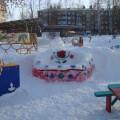 Фотоотчет «Создание развивающей среды на участке детского сада в зимний период»