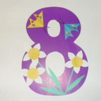 Детская открытка маме на 8 марта своими руками