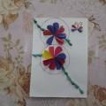 Поздравительная открытка на 8 Марта. Мастер-класс. Старшая и подготовительная группы