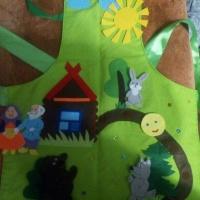 Мастер-класс «Сказка на фартуке «Колобок» из фетра»
