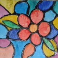 Конспект НОД по художественному творчеству с применением нетрадиционной техники рисования клеем «Витражи»