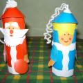 Дед Мороз и Снегурочка из цилиндров