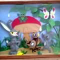 Картина из фетра «Любимая сказка детей и взрослых— «Под грибом» В. Г. Сутеева»