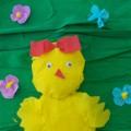 Мастер-класс «Цыпленок на прогулке». Объемная аппликация из гофрированной бумаги