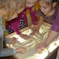 Мастер-класс для воспитателей по использованию техники «рисования песком».