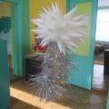 Мастер-класс «Новогоднее украшение из бумаги своими руками «Игольчатая снежинка»