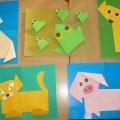 Фотоотчет выставки детского творчества «Волшебный квадрат» с детьми 4 лет.