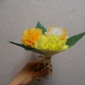 Мастер-класс «Букет цветов из салфеток на 8 Марта»