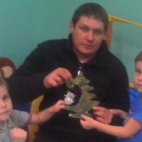 Новогодняя игрушка «Ёлочки в народном стиле»