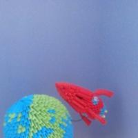 Конкурсные работы к Дню Космонавтики в подготовительной группе ДОУ для детей с ОВЗ