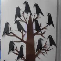 Фотоотчет о коллективной работе в технике оригами «Грачи прилетели»