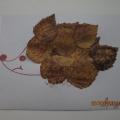 Аппликация из осенних листьев «Ежик»
