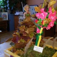 Фотоотчет о конкурсе поделок из природного материала в детском саду «Осенняя красавица»