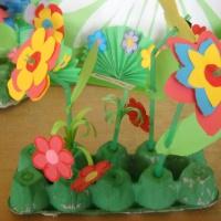 Детский мастер-класс «Цветочная клумба»
