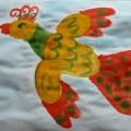 Конспект занятия по рисованию для детей среднего дошкольного возраста «Сказочная птица»