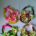 Мастер-класс с пошаговым фото «Корзинка с цветами»
