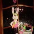 «Пасхальный сувенир» (пасхальный кролик и корзинка). Поделка к Пасхе с участием ребенка