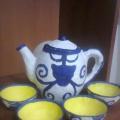 «Чайный сервиз в исполнении техники папье-маше»