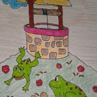 История лягушки в стихах