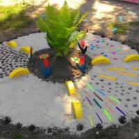 Дорожки здоровья на участке в детском саду