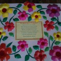 «Цветочная открытка для мамы». Коллективная работа детей старшей группы