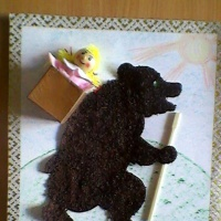 Картина «Маша и медведь» (мастер-класс)